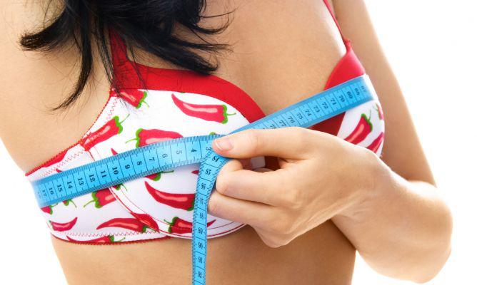 Tamaño del pecho en la mamoplastia de aumento